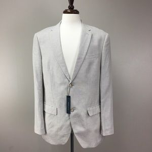 NWT Perry Ellis Cream Linen Blend Sports Coat
